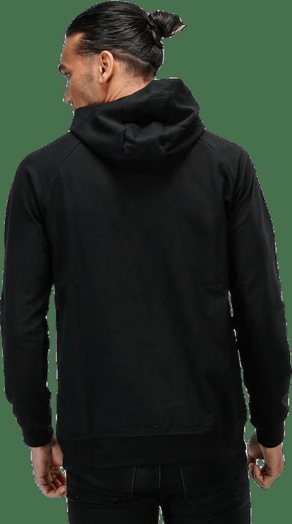 Cotton Logo Hoodie Black
