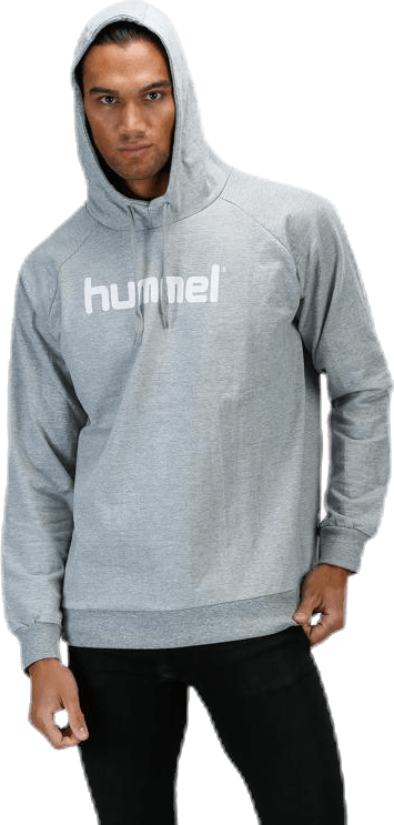 Cotton Logo Hoodie Grey