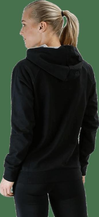 Cotton Logo Hoodie W Black