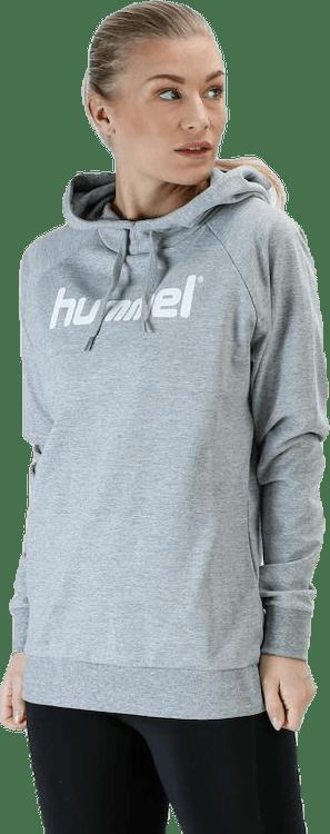 Cotton Logo Hoodie W Grey