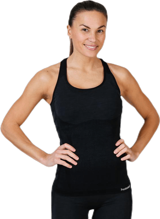 Clea Seamless Top Black/Grey