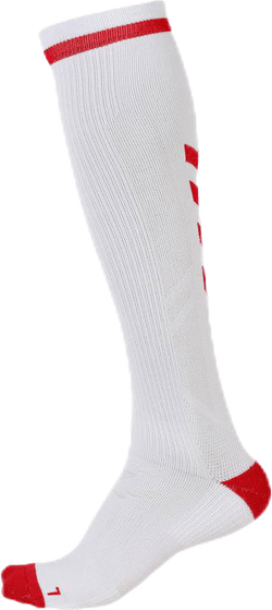 Elite Indoor Sock High White/Red