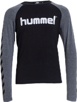 Boys T-Shirt LS Black/Grey