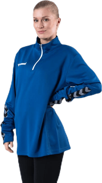Authentic Half Zip Sweatshirt Blue