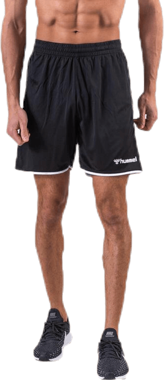 Authentic Poly Shorts White/Black