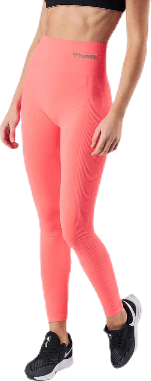 Tif High Waist Seamless Tights Orange/Pink