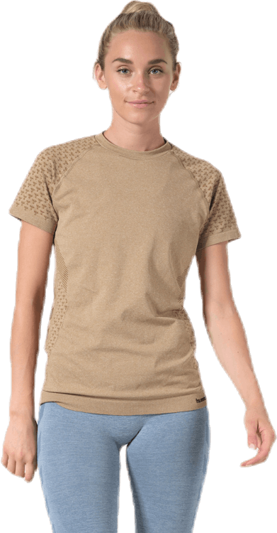 CI Seamless SS T-Shirt Brown