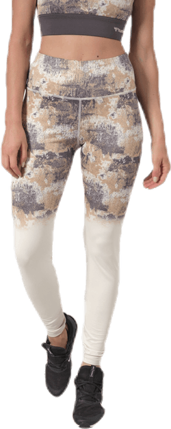 Lotus High Waist Tights White/Grey