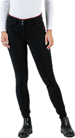 Elina Riding Pants Knee Silicon Black