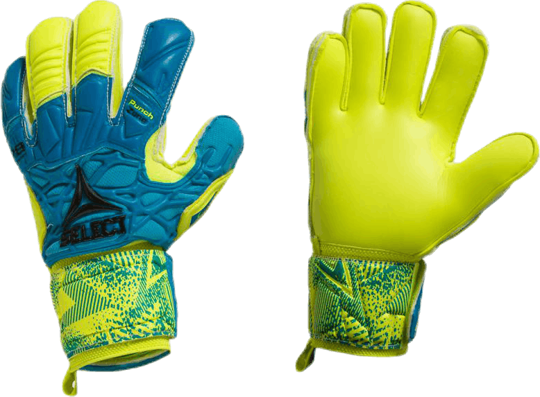 GK Gloves 78 Protection Flat Cut Blue/Yellow