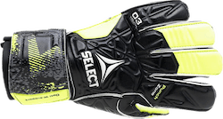 GK gloves 03 Youth Flat cut Black/Yellow