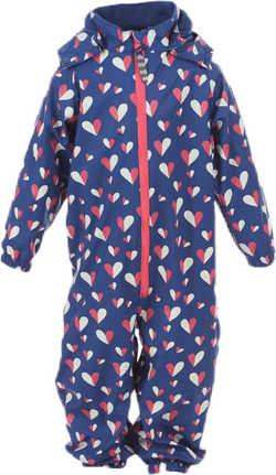 Ruth Fleece Rain Suit Blue
