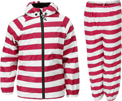 Greta Fleece Rain Set Pink/White