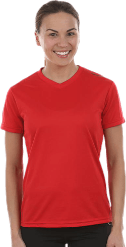 W Base Cool T-Shirt Red
