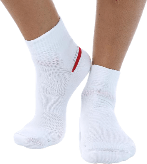 2 Layer Sock White/Red