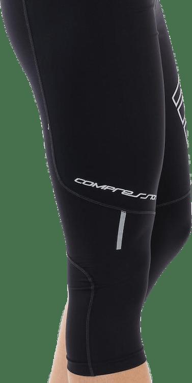 W Compression Knee Tights Black