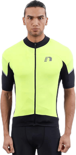 Bike Stretch Jersey Black/Yellow