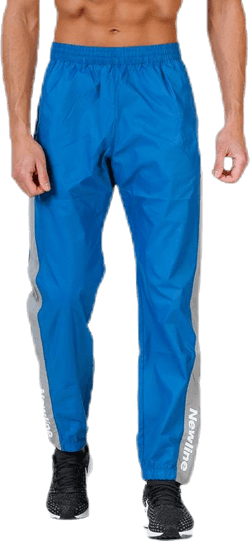 Black Track Pants Blue