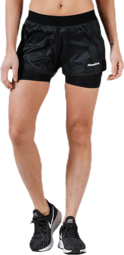 Black 2-Lay Shorts Black