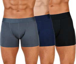 Boxer Bamboo 3-pack Blue/Black/Grey