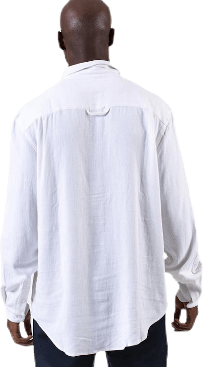 Pop Over Shirt White