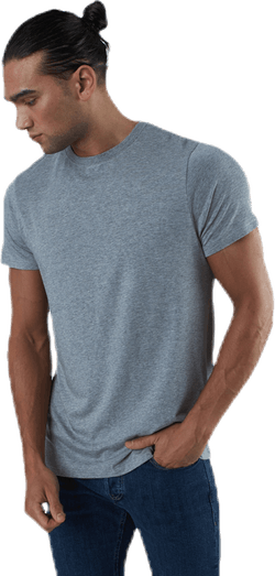 R-neck Bamboo Tee Grey