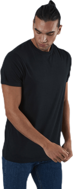 R-neck Bamboo Tee Black