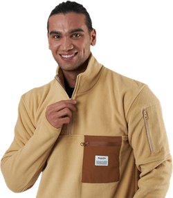 Recycled Polyester Pullover Beige