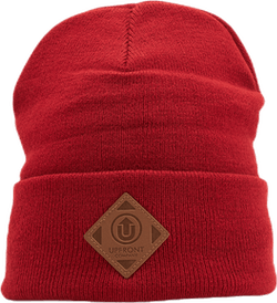 Upfront Official Fold Beanie Red