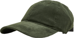 Vincent Cord Soft Baseball Green