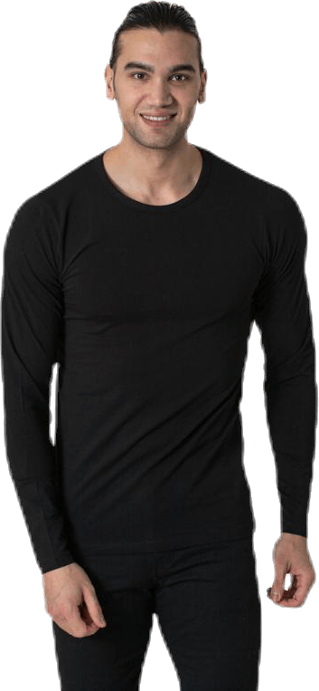 Basic O-Neck Tee L/S Black