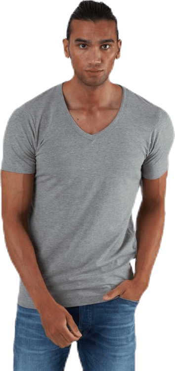 Basic V-Neck Tee S/S Grey