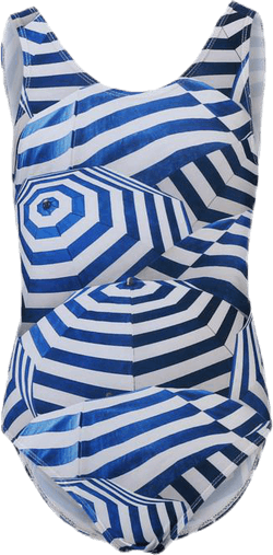 Nika Swimsuit Blue/White