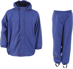 Rainwear set w fleece Purple