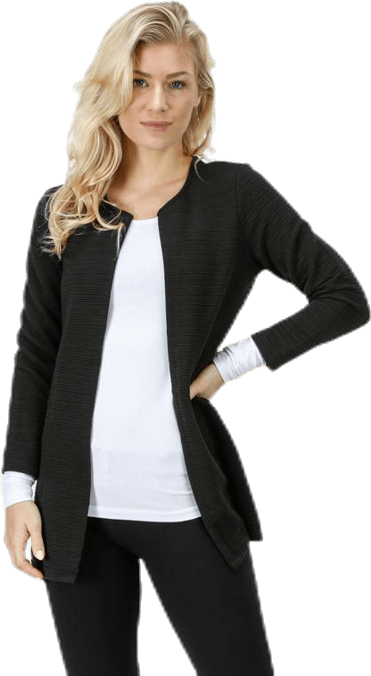 Leco 7/8 Long Cardigan Jrs Black