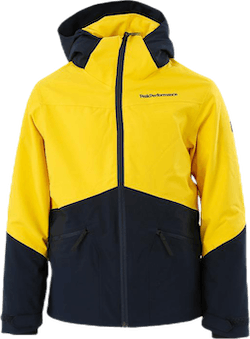 Jr Greyhawk Ski Jacket Blue/Yellow