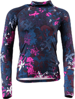 Jr Spirit Printed Crew Blue/Pink