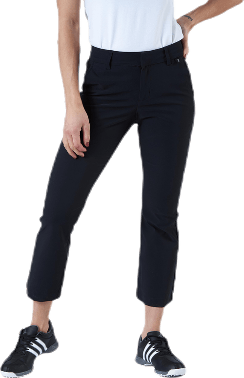 Illusion Cropped Pants Black
