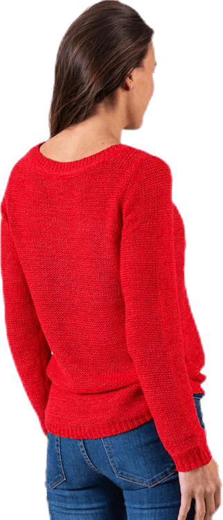 Geena Xo L/S Pullover Knt Red