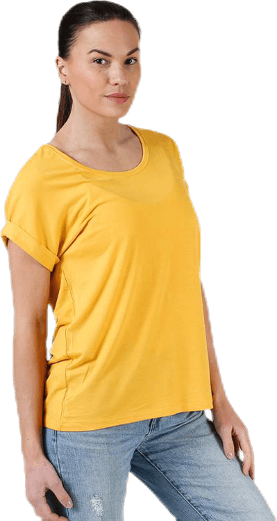 Moster S/S O-Neck Top Jrs Yellow