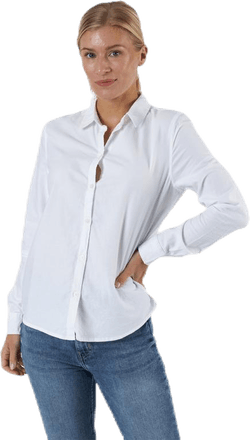 Irena Ls Oxford Shirt White