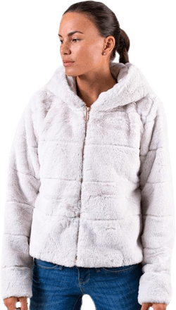 Chris Fur Hooded Jacket Otw Grey