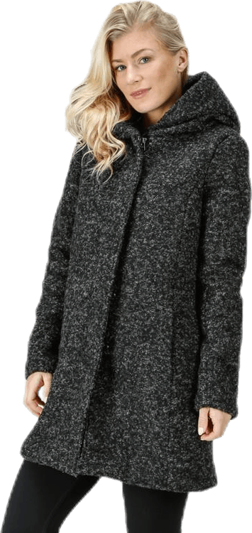 Sedona Boucle Wool Coat Otw Black
