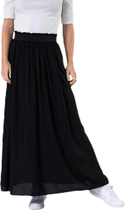 Venedig Paperbag Long Skirt Wvn Black