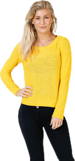 Geena Xo L/S Pullover Knt Yellow