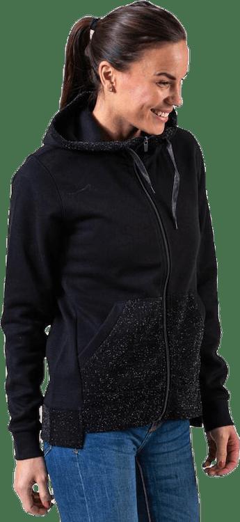 Bellatrix Glitter Zip Hood Sweat Black