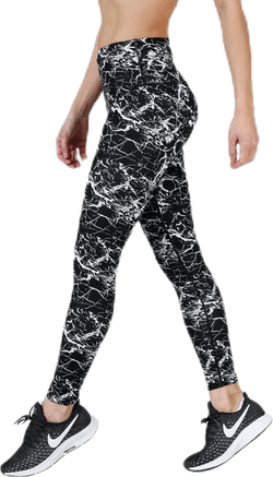 Alec Printed Tights White/Black
