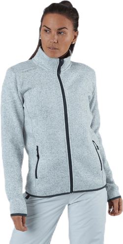 Maleo Melange Fleece Jacket Grey