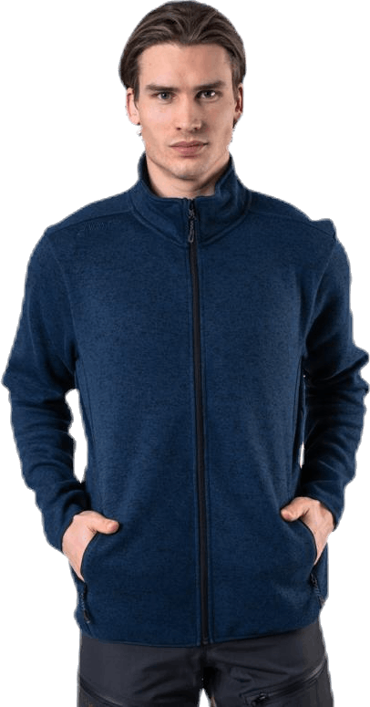 Pareman Melange Fleece Jacket Blue