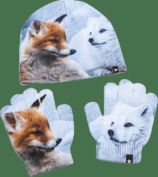 Kaya Hat and Glove Set Grey